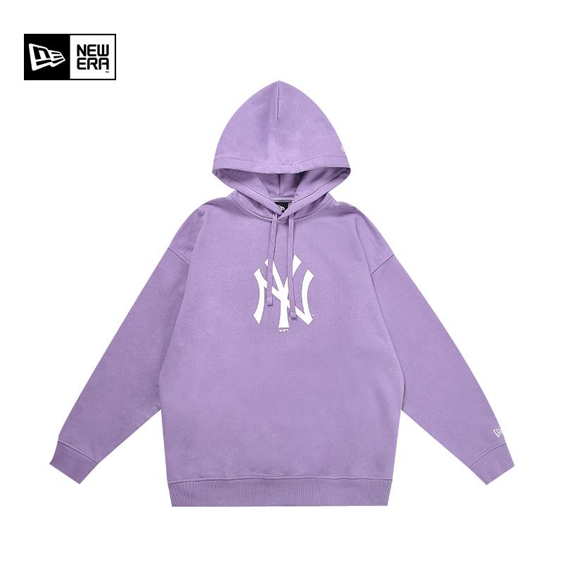 【提前加购!】New Era纽亦华MLB男女NY/LA情侣连帽卫衣长袖帽衫