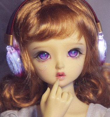 taobao agent 【Big paw bjd】BJD luminous earphones, pure transparent model, three-point uncle size, cp model, red and blue