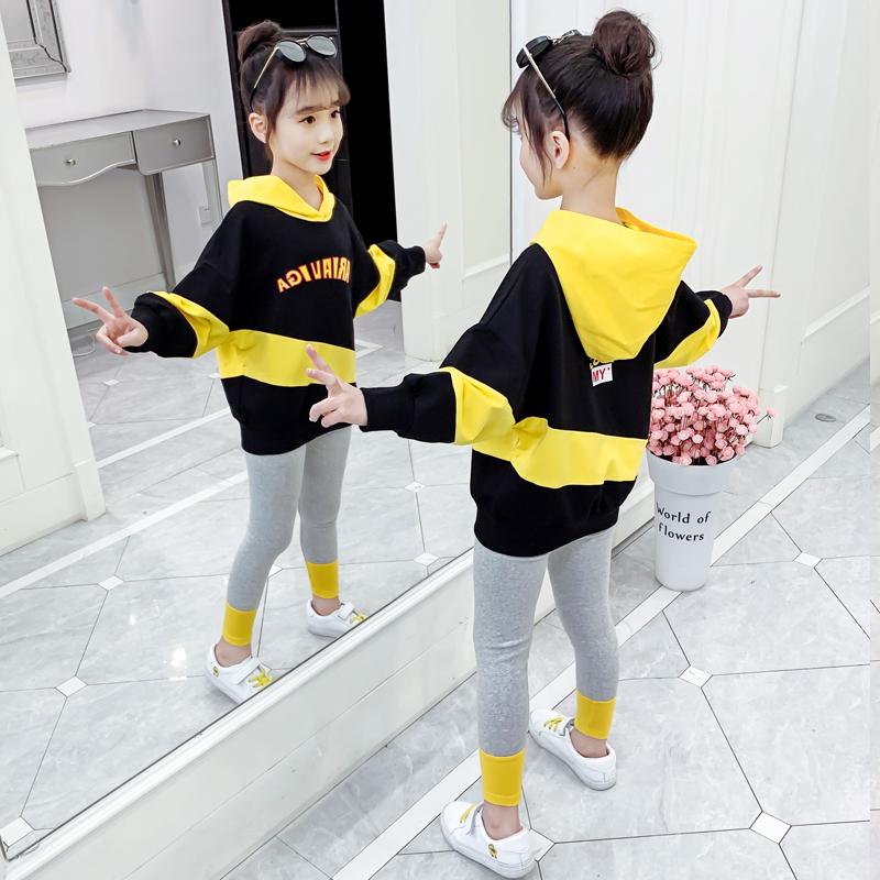 女童秋装套装2020新款韩版童装洋气女孩网红春秋季儿童大童两件套