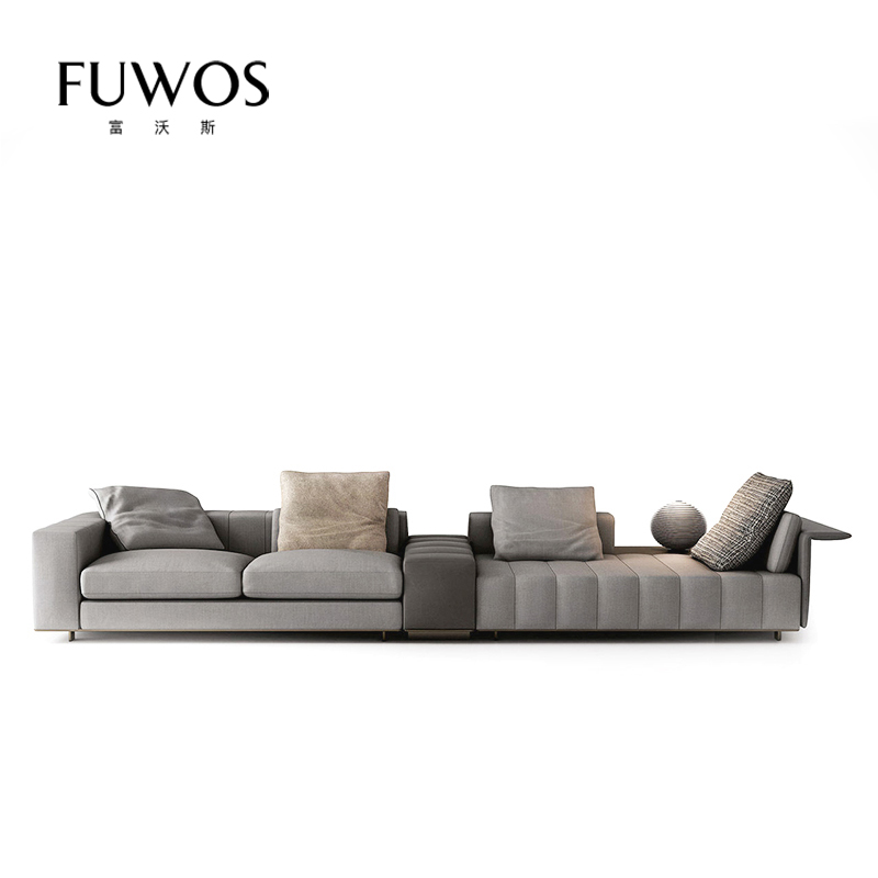Minotti италии стиль после современный свет экстравагантный кожа ткань диван конец мебель сделанный на заказ