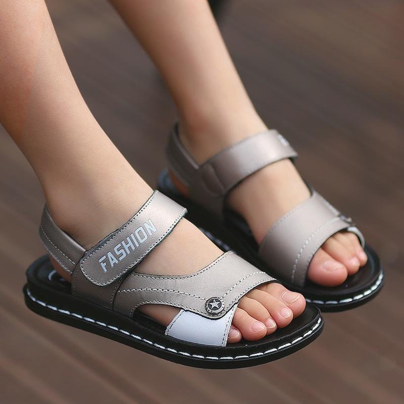 新款儿童真皮凉鞋 沙滩鞋