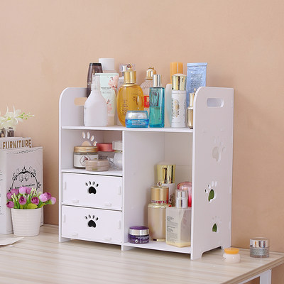 Cosmetic storage box desktop drawer finishing box skin care product with cover storage box mask hood storage rack