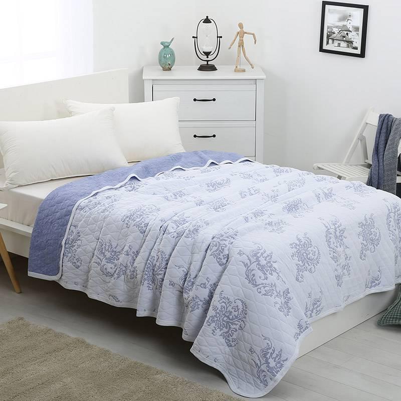 喜屋全棉针织盖毯午睡空调毯毛巾被儿童成人多用毯夏季毯