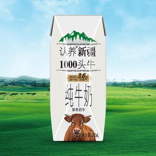 悠纯 新疆整箱娟姗纯牛奶200ml*12瓶