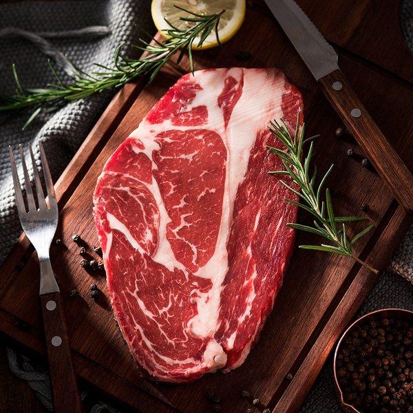 今聚鲜 澳洲原切 眼肉牛排+西冷牛排套餐 10片共1300g 淘抢购双重优惠折后¥116包邮
