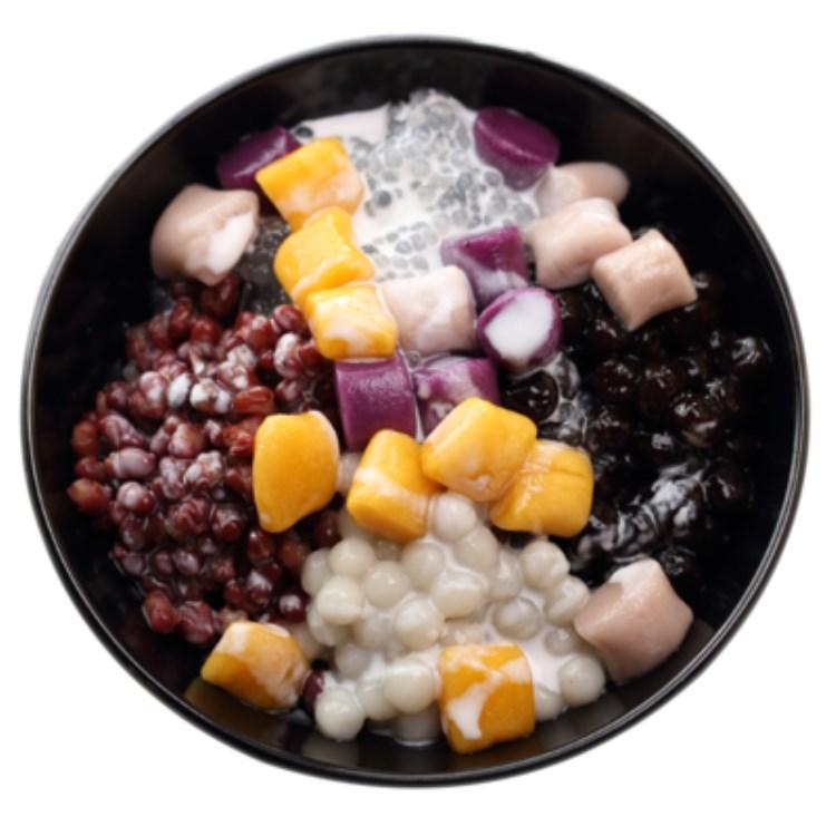 台湾芋圆 鲜芋仙手工芋圆地瓜紫薯芋圆原料甜品组合三口味3斤包邮