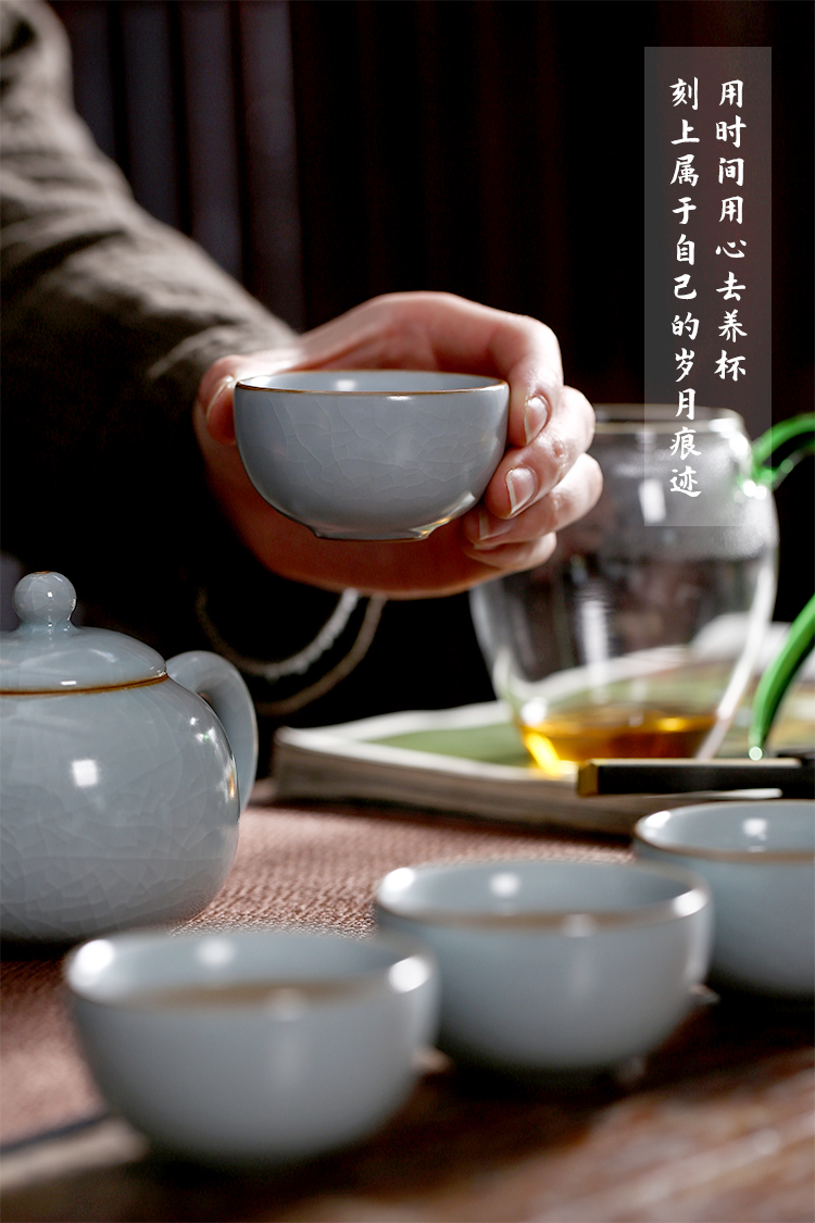 Chang south your up can be blessings on the complete ceramic kung fu tea set undressed ore glaze porcelain teapot teacup