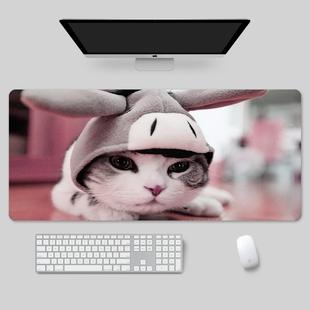 超大鼠标垫加厚办公风景电竞桌面