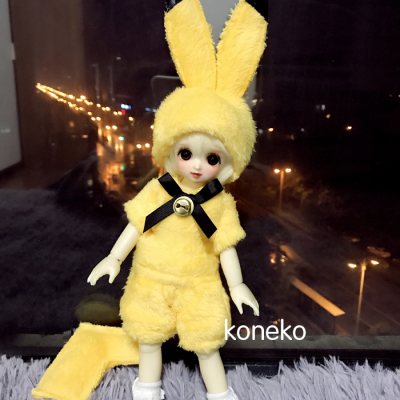 taobao agent 【Free shipping】bjd baby clothes hat pants 6 points 4 points giant baby Pikachu anthropomorphic plush baby clothes koneko
