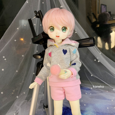 taobao agent 【Free shipping】bjd baby clothes 6 points 4 points 3 points careful printing clothes sweater + shorts variety