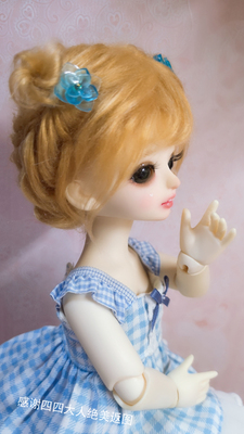 taobao agent 【Free shipping over 58】bjd wig golden brown golden hair BJD wig 3 points 4 points 6 points 8 points