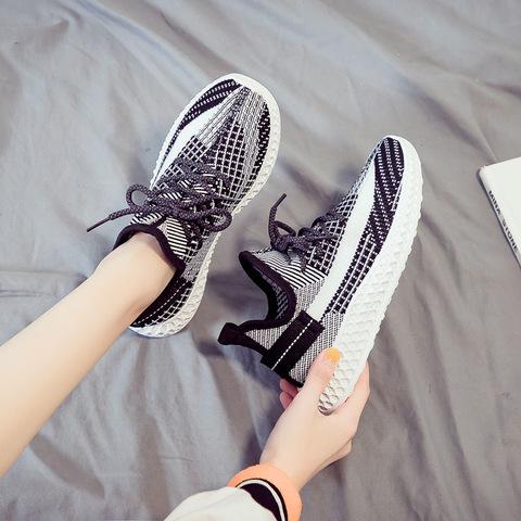 2020春夏新款透气椰子鞋运动防滑百搭休闲学生女鞋轻便透气旅游鞋