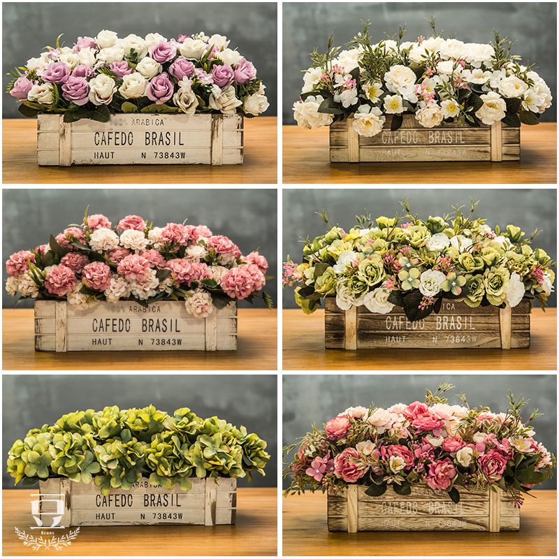 american artificial flower wooden fence decoration fake flower