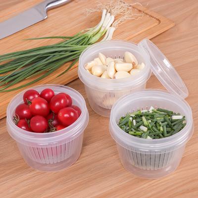 冰箱保鲜收纳盒密封盒子食品塑料葱花保鲜盒家用保鲜碗沥水密封盒
