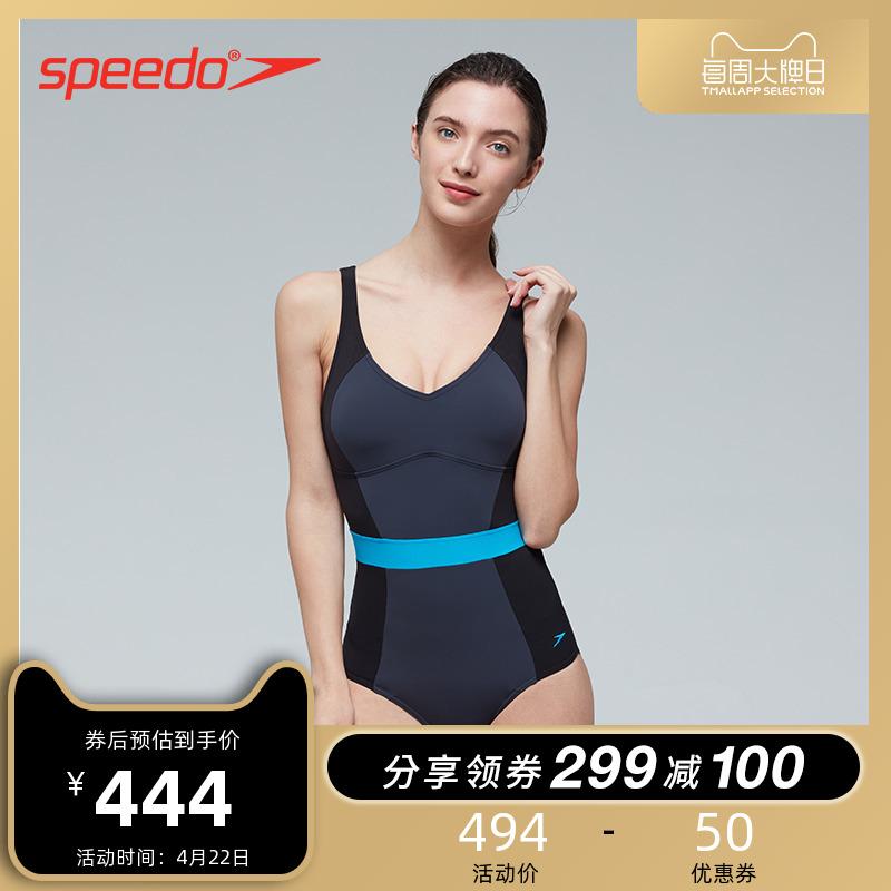 Speedo / Speedbito Slim Fit Series Slim Fit Fit Bộ sưu tập áo tắm mùa xuân nóng một mảnh Slim Anti-clo - Bộ đồ bơi One Piece