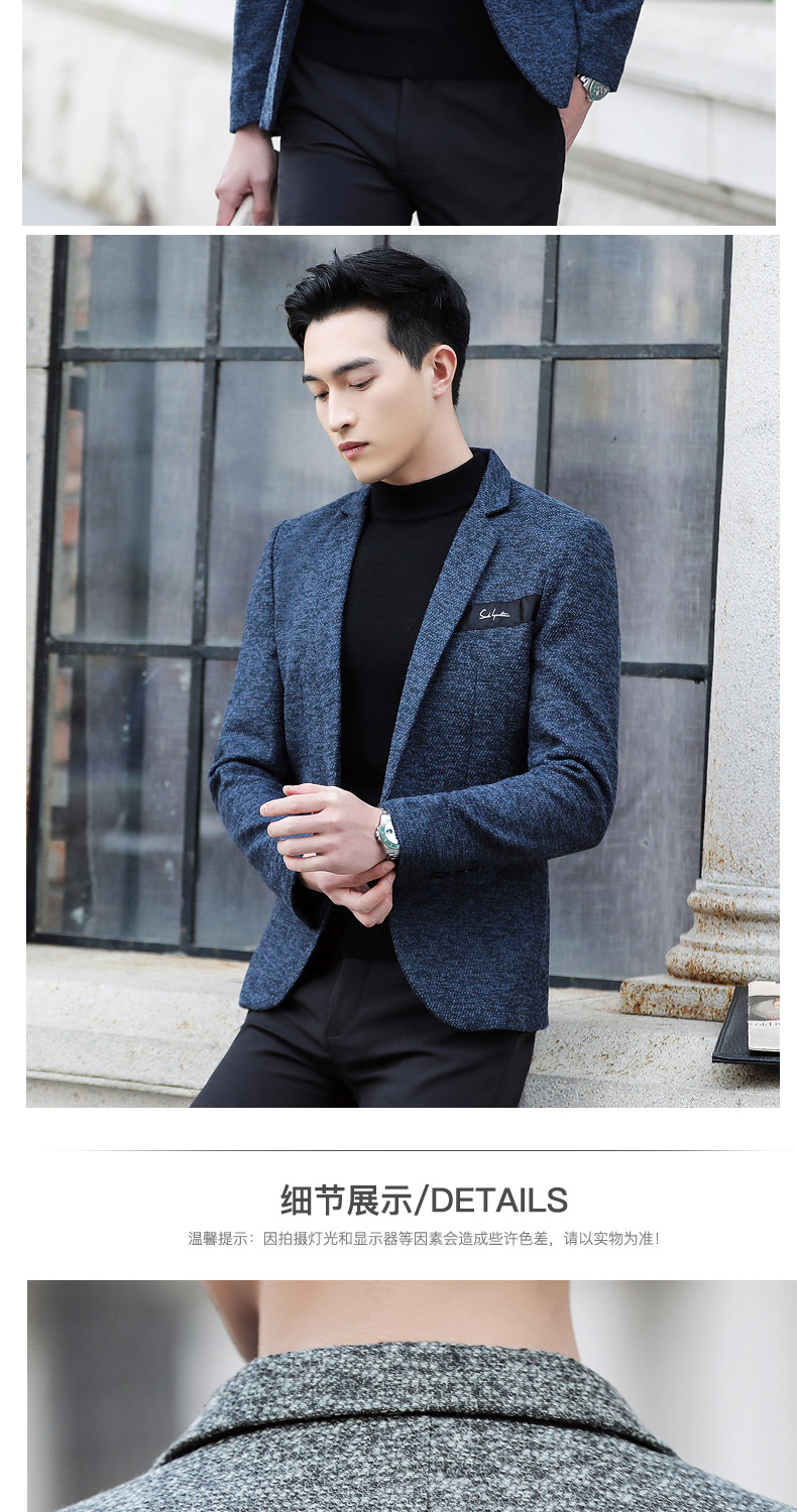 Suit male Korean version of the casual small suit green Chinese New Year's Eve a handsome trend of Western students men's single Western coat 37 Online shopping Bangladesh