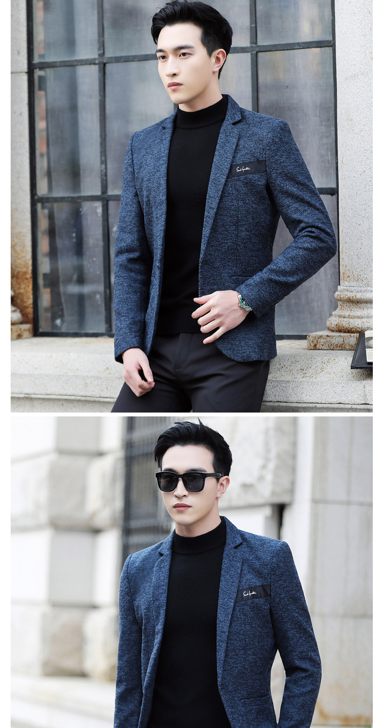 Suit male Korean version of the casual small suit green Chinese New Year's Eve a handsome trend of Western students men's single Western coat 36 Online shopping Bangladesh