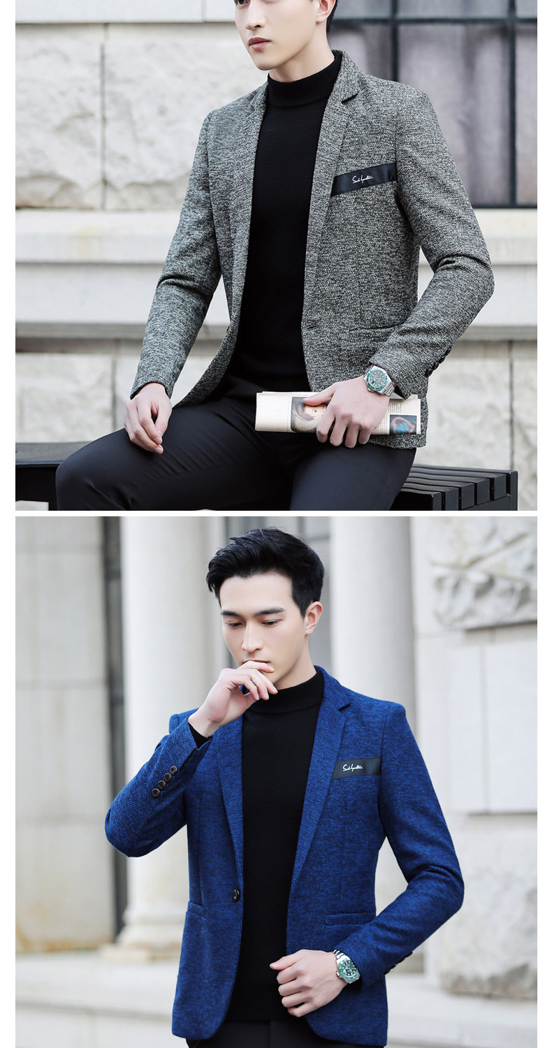 Suit male Korean version of the casual small suit green Chinese New Year's Eve a handsome trend of Western students men's single Western coat 32 Online shopping Bangladesh