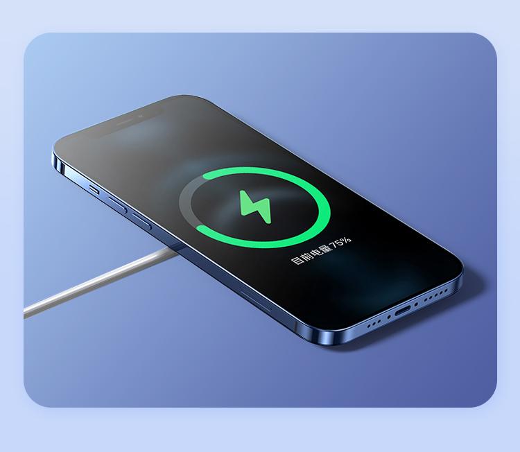 品胜无线充电器感应磁力插头适用于苹果12