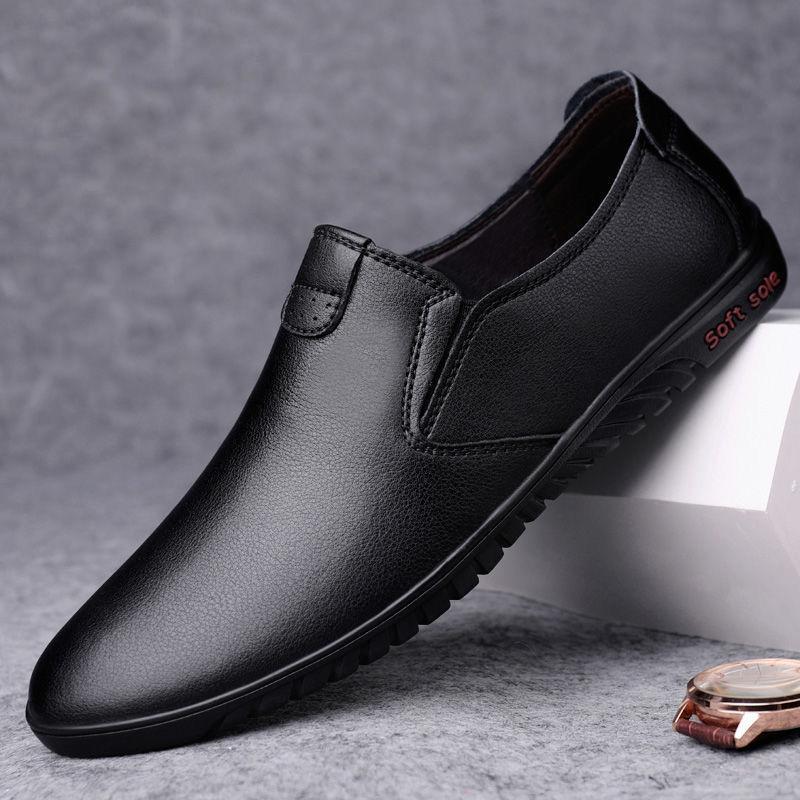 男士透气防滑耐磨商务皮鞋