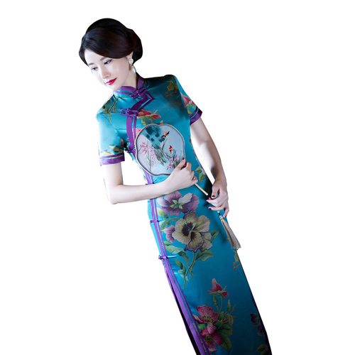 Chinese Dress Qipao for women Cheongsam dress young girl retro Chinese style long style show slim and elegant