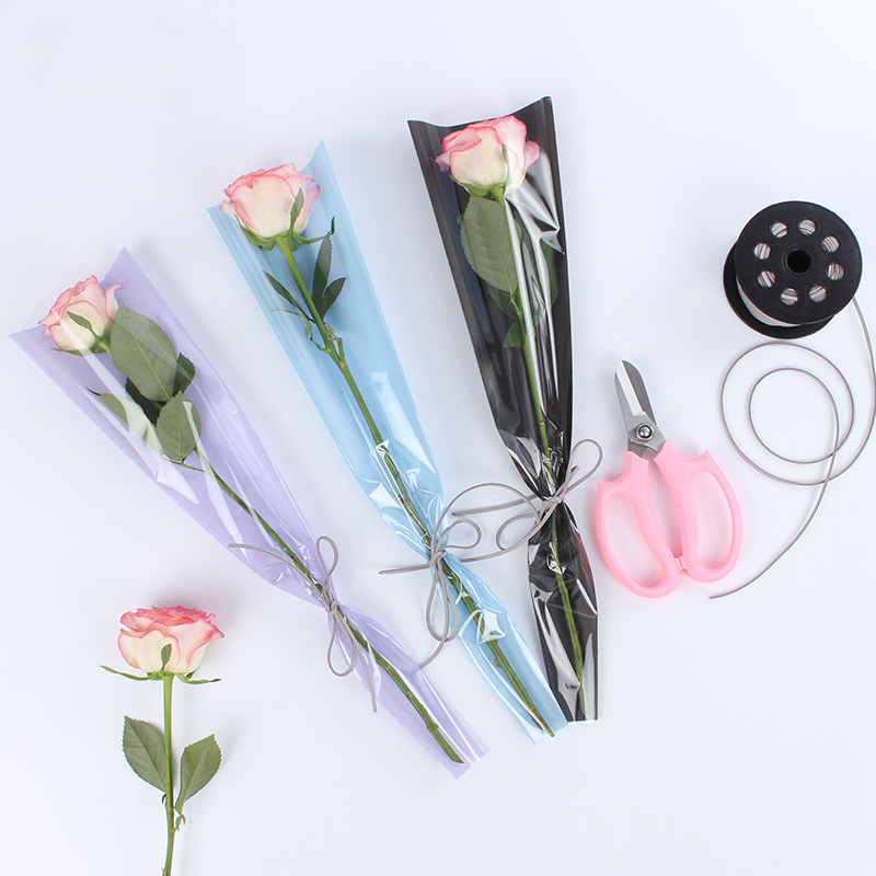 Morning Fog Soft Light Single Package Flower Paper Frosted Flowers Gift Wrapping Paper Rose Single Bag Florist Bouquet Material