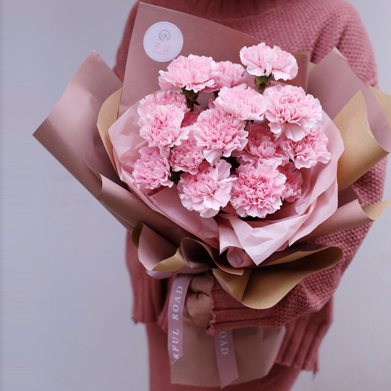 Flower Clothing Season Offset Color Kraft Paper Korean Flowers Gift Bouquet Wrapping Paper Retro Material Florist Supplies
