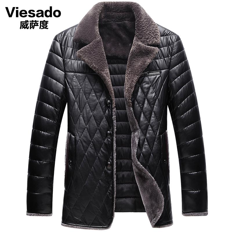 威萨度2018新款中年男冬季外套加厚加绒40-50岁爸爸中老年棉外套-给呗网