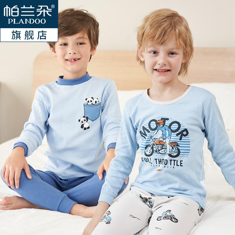 帕兰朵 纯棉 中大男童内衣套装 天猫优惠券折后¥29.9包邮(¥49.9-20)圆领、中领110~170码多色可选