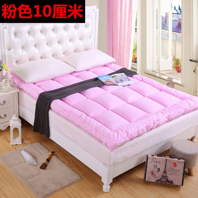 Down mattress thickening 10cm feather velvet tatami student dormitory 0.9m pad single double 1.5 bed
