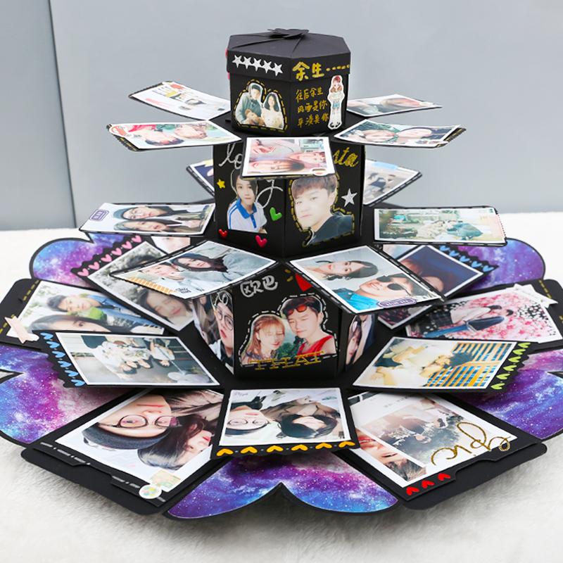 Explosion Box Handmade Diy Photo Album Custom Shake Sound With Birthday Gift On Valentines Day