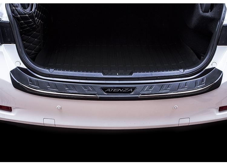 Ốp chống trầy cốp sau thép không gỉ titan đen Mazda6 2017 -2018 - ảnh 18