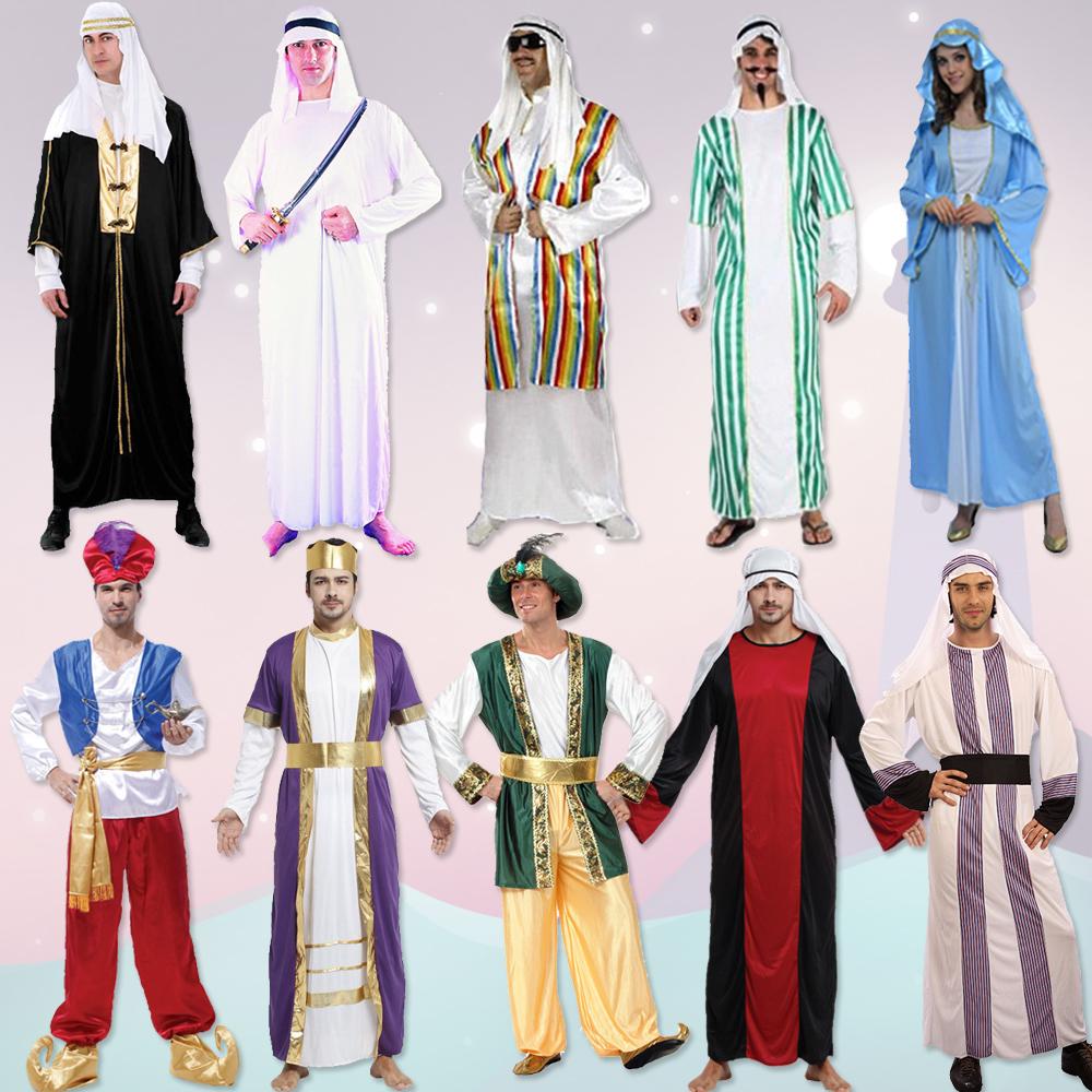 萬圣節服裝中東阿拉伯服飾成人男阿拉伯酋長沙特王子迪拜阿聯酋_不圖片