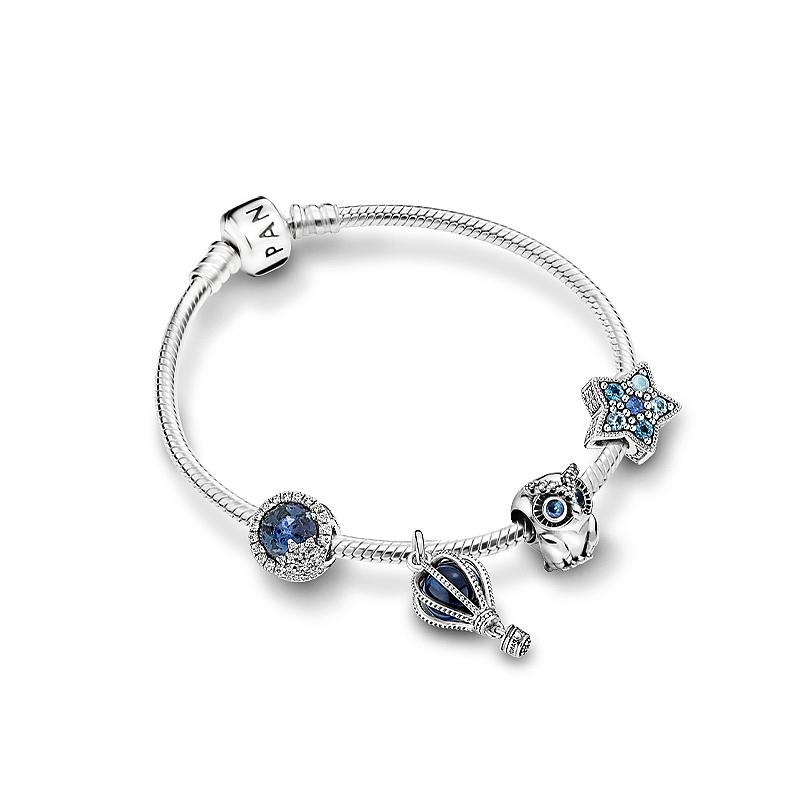 Pandora潘多拉925银深蓝秘境手链ZT0764情侣浪漫送女友礼物