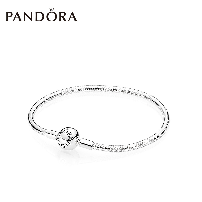 e96edef2b PANDORA Pandora Moments smooth silver buckle 925 silver bracelet 590728  fashion temperament hand string female
