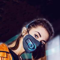布梨kn95防护口罩电动新风防尘送风防雾霾智能成人男女防风防寒
