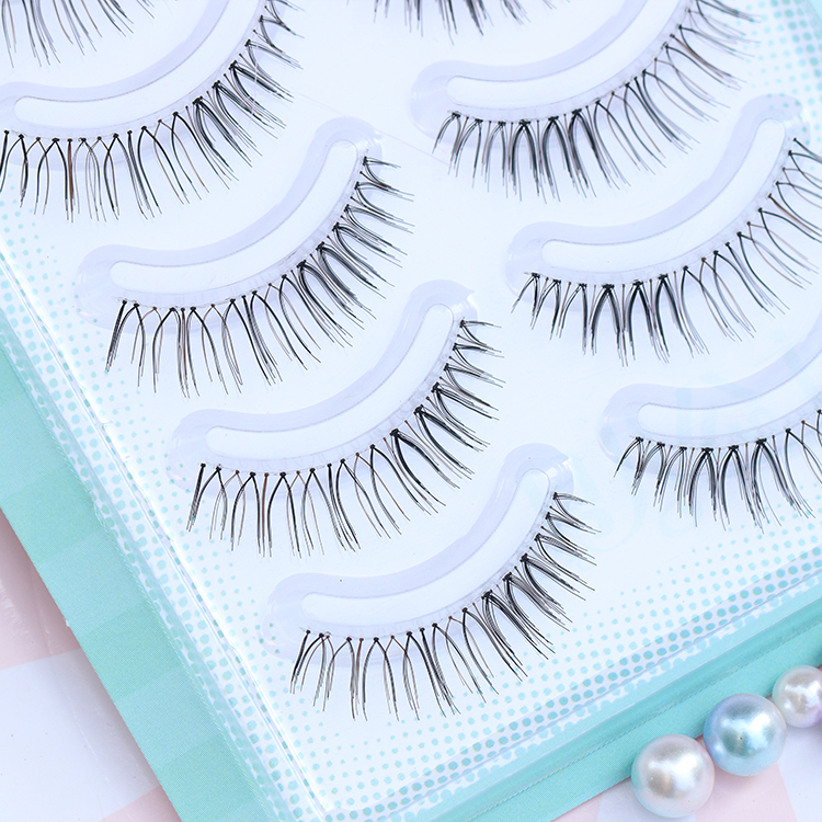 Sporting 10 Pairs New Artificial Eyelashes Simulated 217 Pure Hand-made Cotton Yarn Dry Naturally Lashes Faux Mink Beauty Essentials