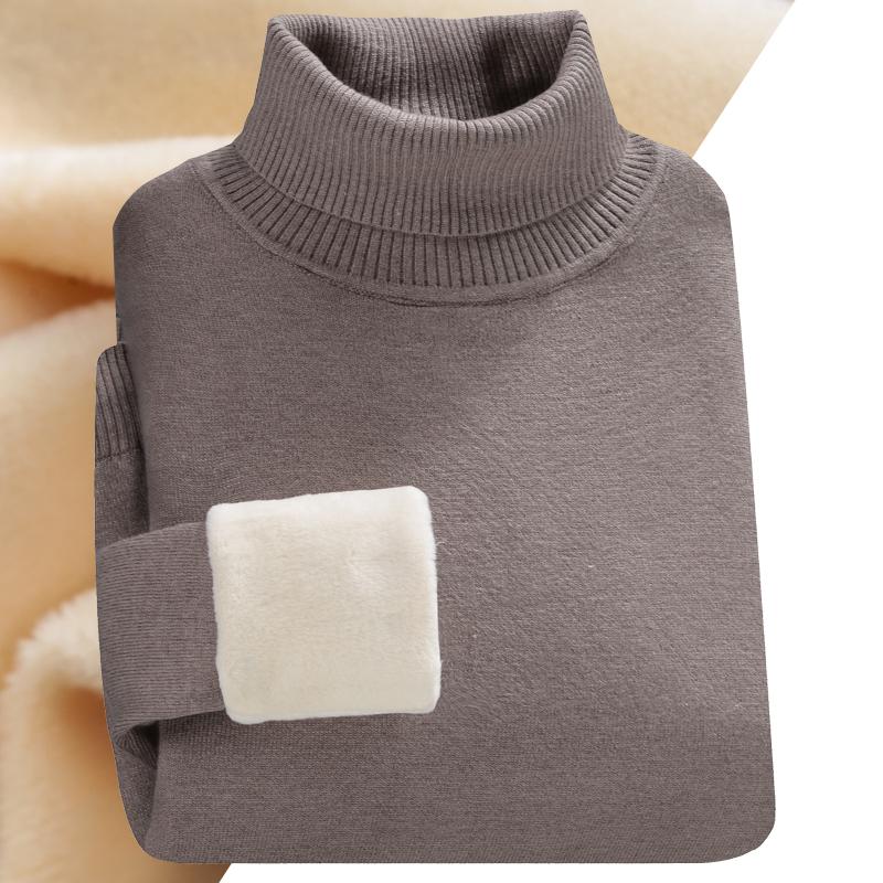高领毛衣男秋冬季加绒加厚长袖线衣男士毛衫韩版潮流修身针织衫潮
