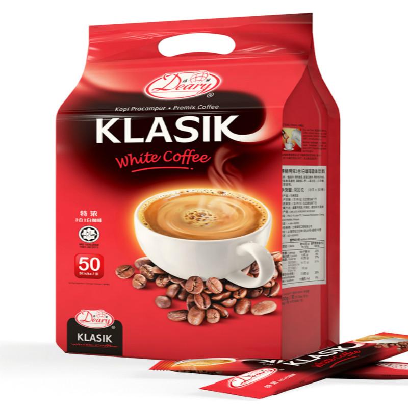 马来西亚进口3合1速溶白咖啡粉50条装