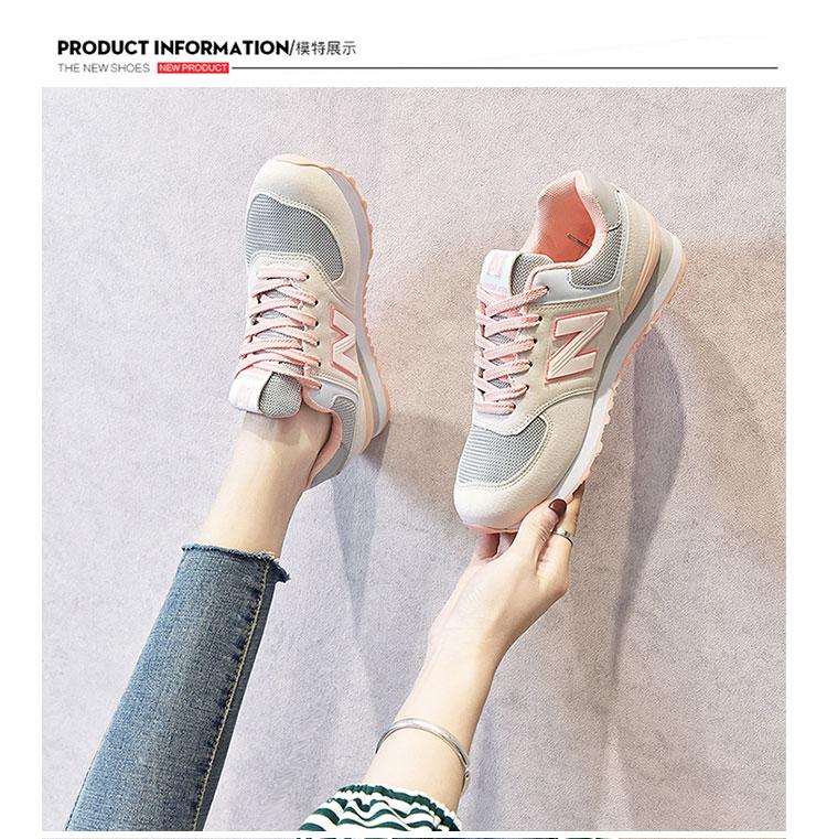 正品酷跑步运动鞋女春季新款情侣復古阿甘鞋女学生百搭详细照片
