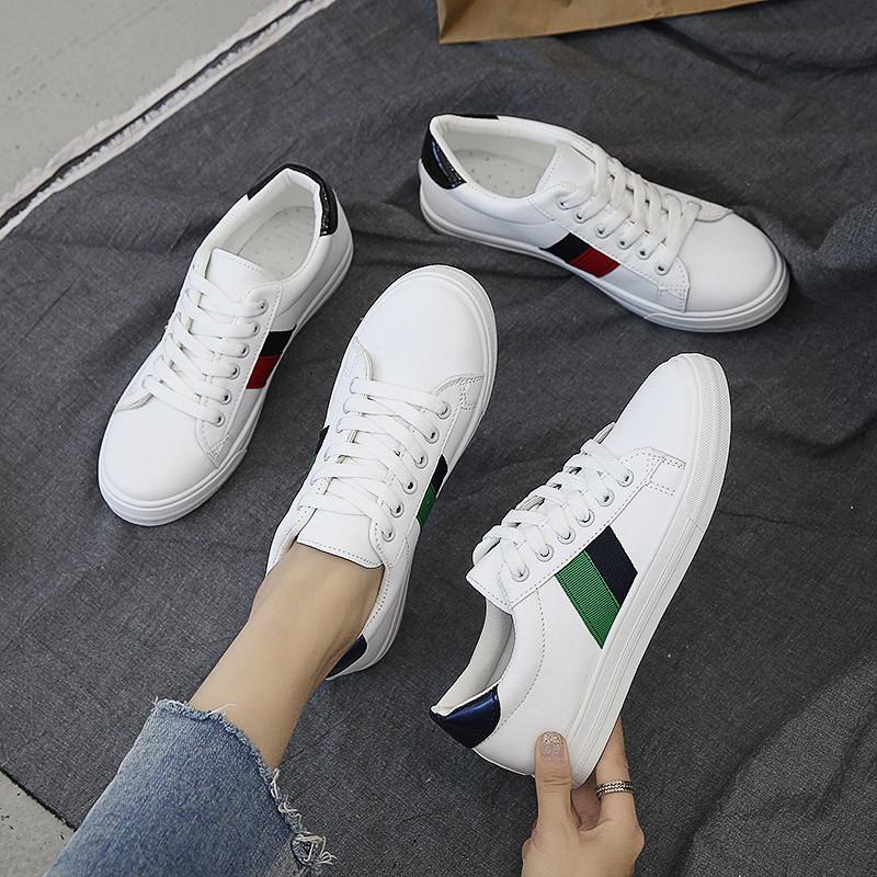 小白鞋女2019秋季新款百搭网红女鞋子平底学生夏季透气休闲板鞋女