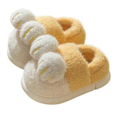 儿童棉拖鞋冬季男童拖鞋女宝宝棉鞋包跟可爱保暖家居室内鞋毛绒秋