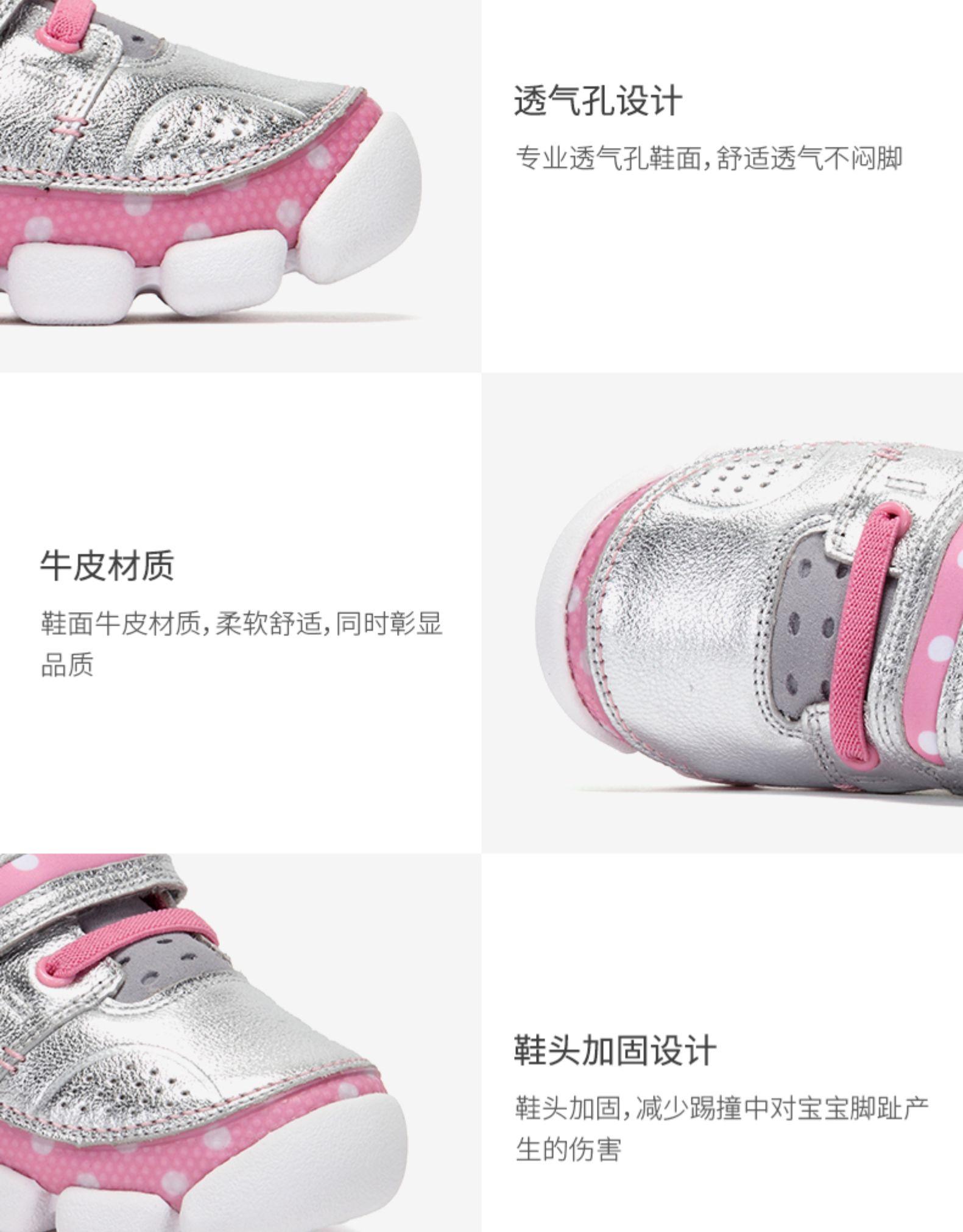 其乐童鞋岁舒适透气糖糖龙男女学生休閒超轻运动鞋皮鞋详细照片