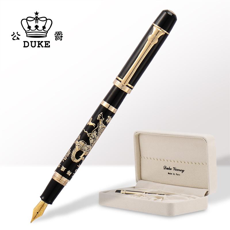 正品DUKE德国公爵龙腾盛世铱金笔钢笔墨水笔中国风龙笔成人练字礼盒送人套装_天猫超市优惠券
