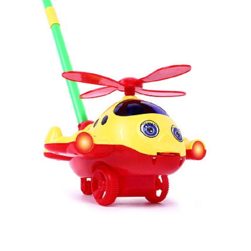 宝宝学步手推车手推飞机儿童玩具推推乐带响铃单杆吐舌头学走路_天猫超市优惠券