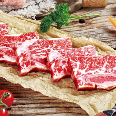 鸿亮黑椒牛仔骨新鲜牛小排半成品带骨牛排牛肋排牛肉6袋装1200g