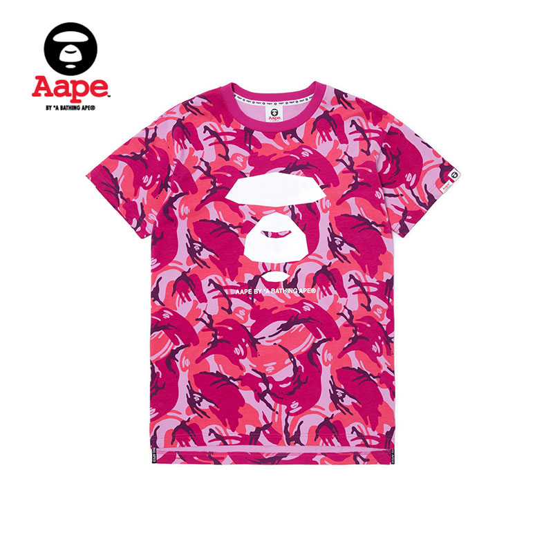 d1c03588 USD 140.90] AAPE women's spring and summer reflective ape letter ...
