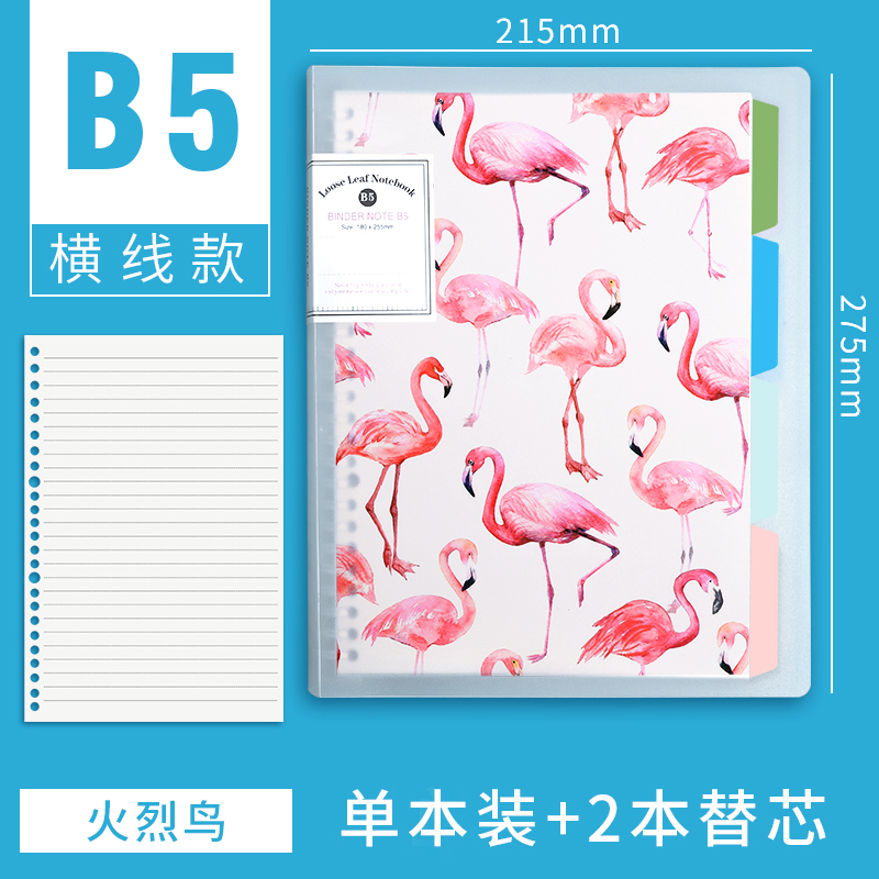 B5 HORIZONTAL LINE [FLAMINGO] TO SEND 2 REFILLS