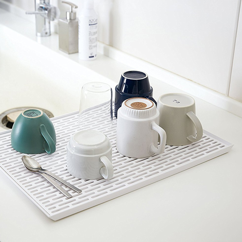 Materials Plastic & Japanese-style tableware drain dish rack kitchen table top double ...