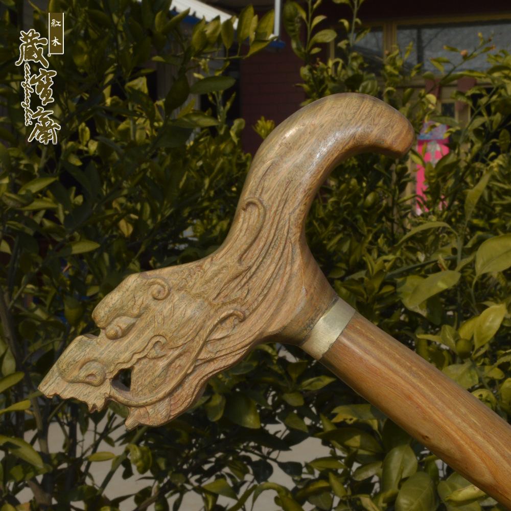 Mahogany vòi cũ đi bộ gậy đi bộ gỗ đàn hương xanh đi bộ gậy ông già đi bộ gậy đi bộ trekking gậy để chúc mừng sinh nhật - Gậy / gậy